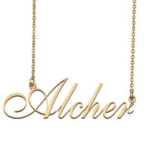 Custom Personalized Alcher Name Necklace